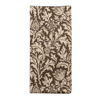 William Morris Thistle Damask, Taupe Tan & Beige Napkin