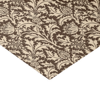 William Morris Thistle Damask, Taupe Tan & Beige Tissue Paper