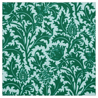 William Morris Thistle Damask, Turquoise and Aqua Fabric