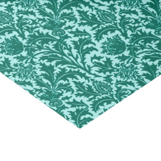 William Morris Thistle Damask, Turquoise and Aqua Tissue Paper