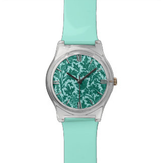 William Morris Thistle Damask, Turquoise and Aqua Wrist Watch