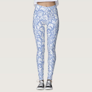William Morris Thistle Pattern Custom Color Leggings
