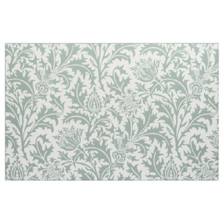 William Morris Thistle Pattern Green Custom Color Fabric