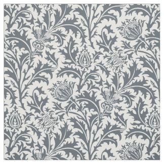 William Morris Thistle Pattern Slate Custom Color Fabric