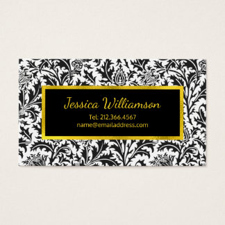 William Morris Touch of Gold Thistle Pattern Business Card
