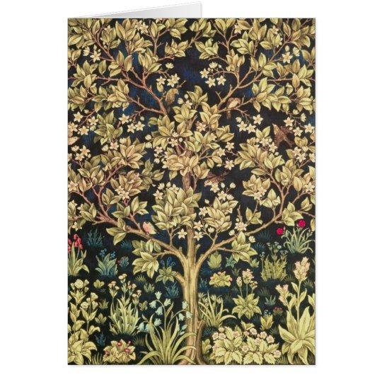 William Morris Tree Of Life Card
