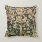 William Morris Tree Of Life Floral Vintage Art Throw Pillow