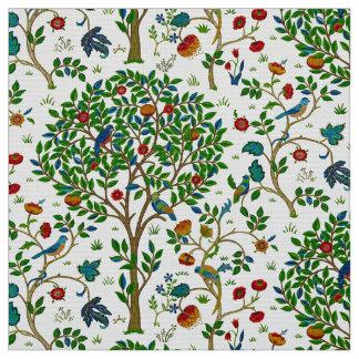 William Morris Tree of Life Pattern, Green & Multi Fabric