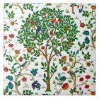 William Morris Tree of Life Pattern, Green & Multi Tile