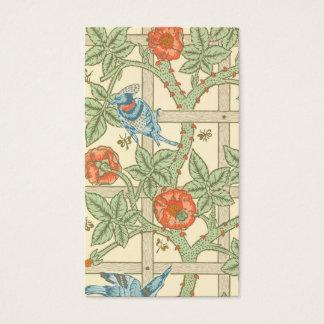 William Morris Trellis Pattern Business Card