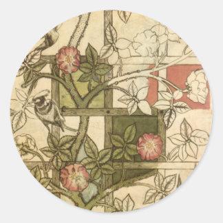 William Morris - Trellis Round Sticker