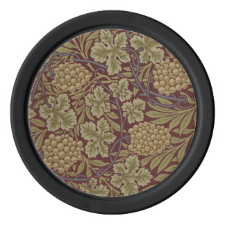 William Morris Vine Wallpaper Pattern Vintage Poker Chips