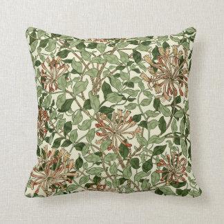William Morris Vintage Honeysuckle Pattern Throw Pillow