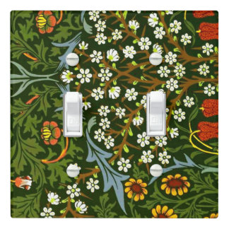William Morris vintage pattern, Blackthorn Light Switch Cover