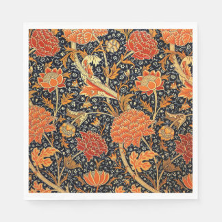 William Morris vintage pattern, Cray Disposable Napkins