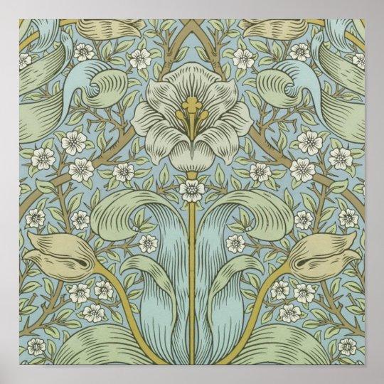 William Morris Vintage Spring thicket Floral Desig Poster