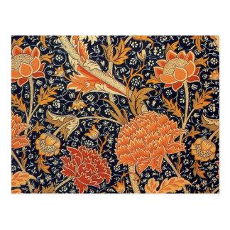 William Morris Wallpaper Cray Design Postcard