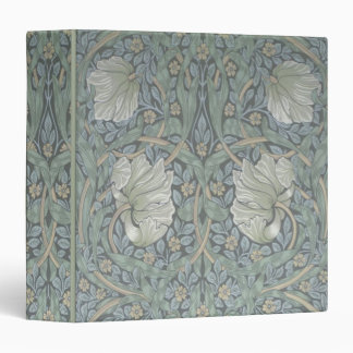 "William Morris White Poppies 1.5"" Ring Binder"