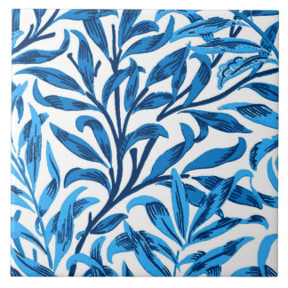 William Morris Willow Bough, Cobalt Blue & White Tile