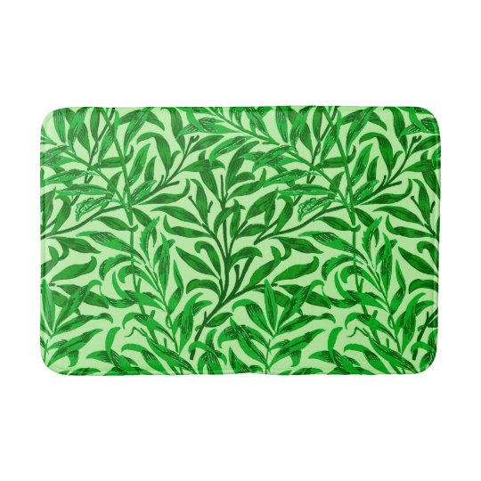 William Morris Willow Bough, Emerald Green Bath Mat