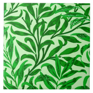 William Morris Willow Bough, Emerald Green Ceramic Tile
