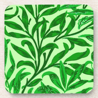 William Morris Willow Bough, Emerald Green Coaster