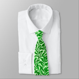 William Morris Willow Bough, Emerald Green Tie