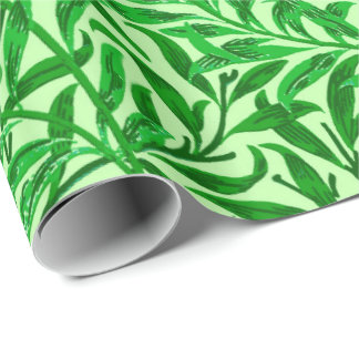 William Morris Willow Bough, Emerald Green Wrapping Paper