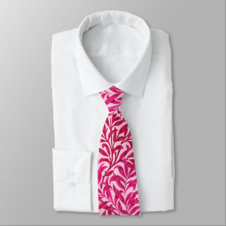 William Morris Willow Bough, Fuchsia Pink Tie