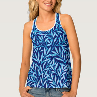 William Morris Willow Pattern, Cobalt Blue Tank Top
