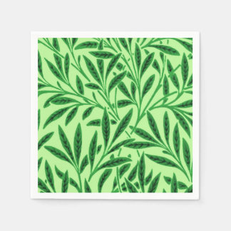 William Morris Willow Pattern, Light Jade Green Disposable Napkin