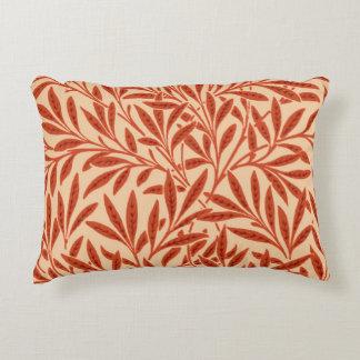 William Morris Willow Pattern, Mandarin Orange Decorative Pillow