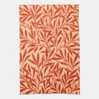 William Morris Willow Pattern, Mandarin Orange Kitchen Towel