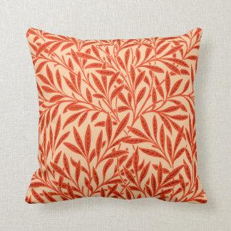 William Morris Willow Pattern, Mandarin Orange Throw Pillow