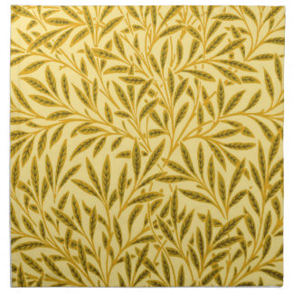 William Morris Willow Pattern, Mustard Yellow Napkin