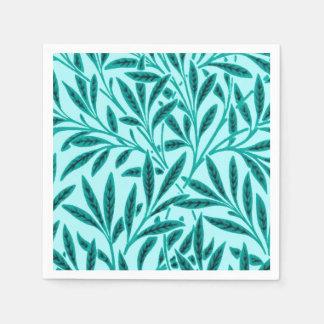 William Morris Willow Pattern, Turquoise & Aqua Disposable Napkins
