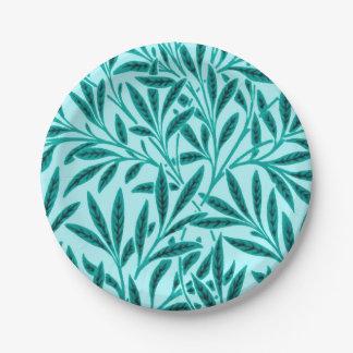 William Morris Willow Pattern, Turquoise & Aqua Paper Plate