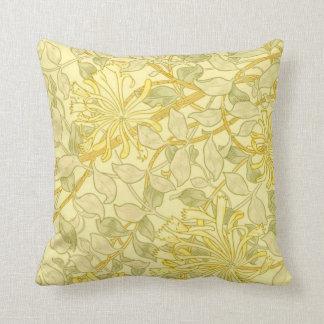 William Morris - Yellow Honeysuckle Throw Pillow