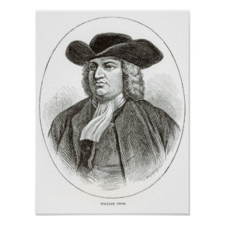 William Penn  engraved by Josiah Wood Whymper Poster