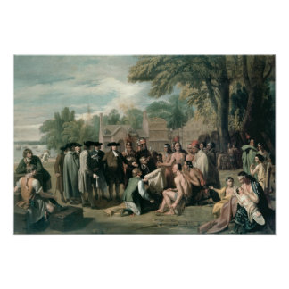 William Penn's Treaty with the Indians in Poster