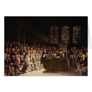 William Pitt addressing the House Card