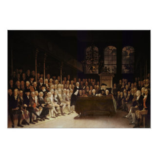 William Pitt addressing the House Poster
