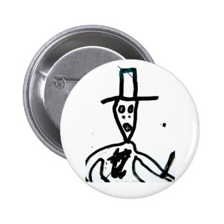 """william s. burroughs """"man in hat"""" 2 inch round button"""