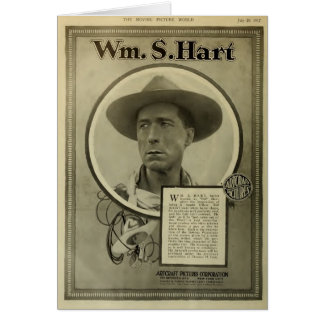 William S. Hart 1917 silent film exhibitor ad Card