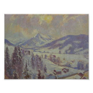 William Samuel Horton (American, 1895-1936) Snow a Poster