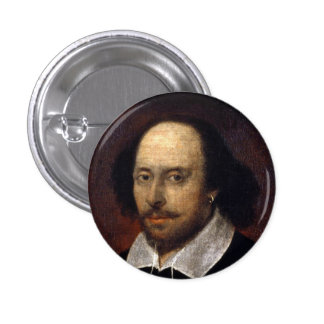 William Shakespeare 1 Inch Round Button