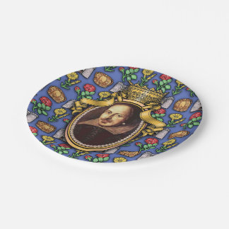 William Shakespeare 7 Inch Paper Plate