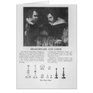 William Shakespeare  and Ben Jonson Card