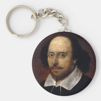 William Shakespeare Basic Round Button Keychain