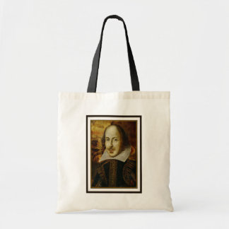 William Shakespeare Canvas Grocery Tote